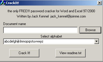 free word and excel 2007 password recovery wizard download