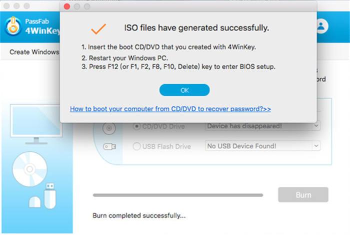 cd bootável gravado com sucesso no mac