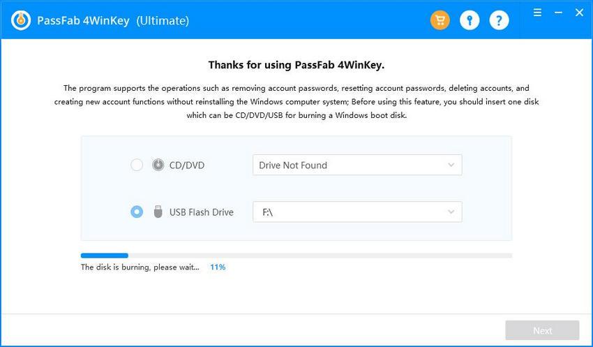 burn a bootable disk passfab 4winkey guide