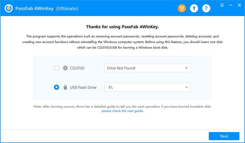creating a boot cd or usb passfab 4winkey guide