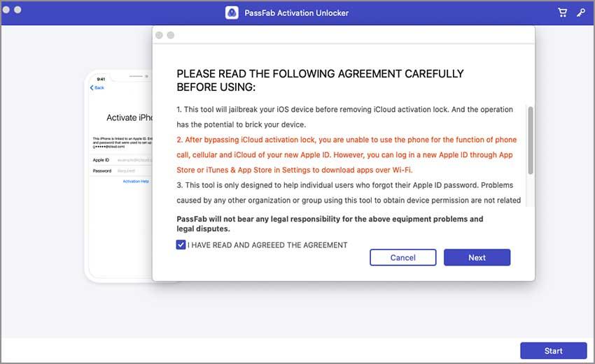 passfab activation unlocker agreement