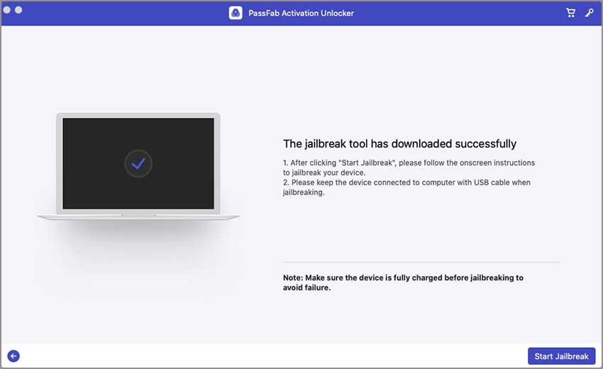 start jailbreak via passfab activation unlocker
