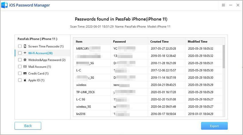 find password