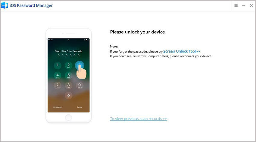 unlock device
