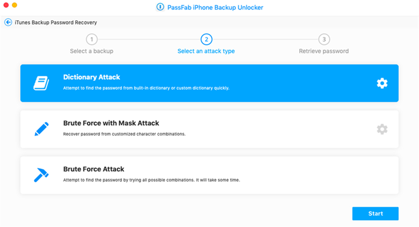 dictionary attack on passfab iphone backup unlocker mac
