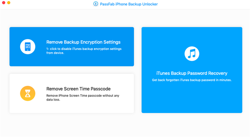 remove backup encryptions on passfab iphone backup unlocker mac