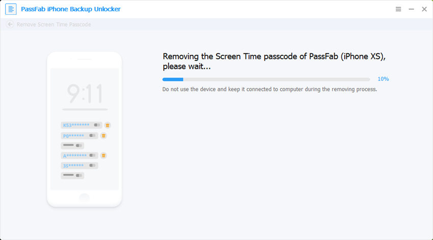 passfab iphone backup unlocker removing screen time passcode