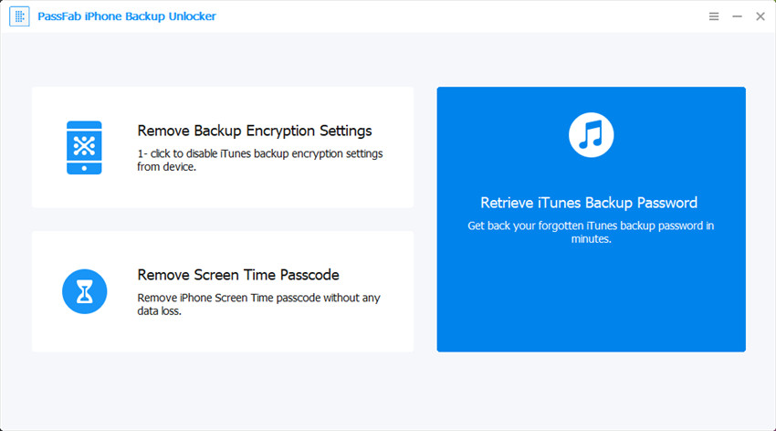 passfab iphone backup unlocker to retrieve itunes backup password