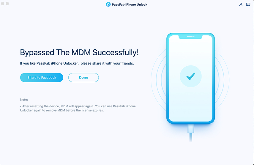 bypass mdm successfully using passfab iphone unlocker