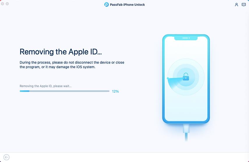 removing apple id in passfab iphone unlocker for mac
