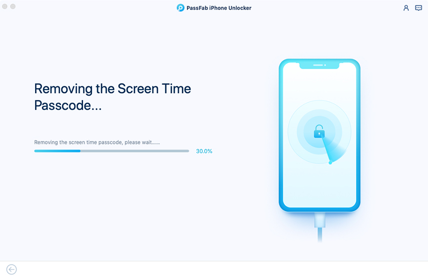 bypass screen time passcode on passfab iphone unlocker