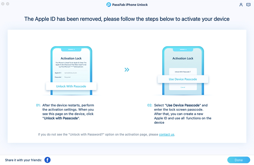 follow the steps to set up your device