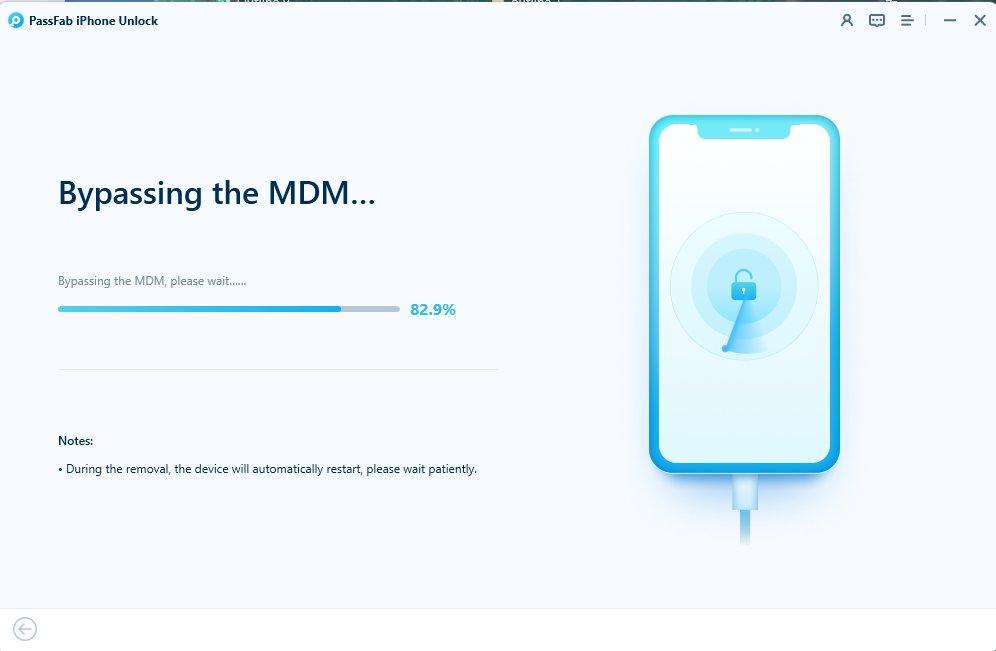 bypassing mdm on iphone in passfab iphone unlocker