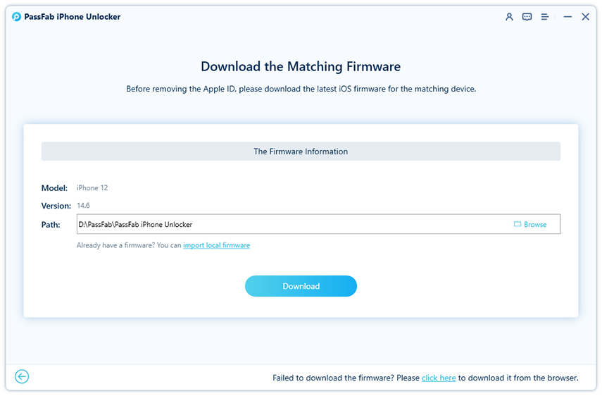 download the firmware to remove apple id