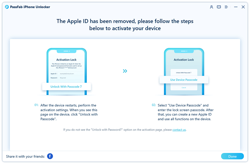 remove apple id successfully