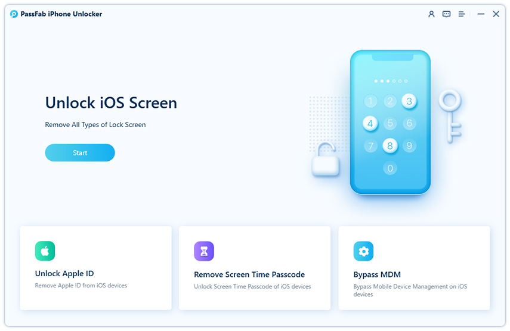 remove screen time passcode in passfab iphone unlocker