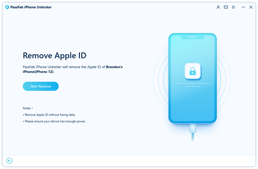 start to unlock apple id