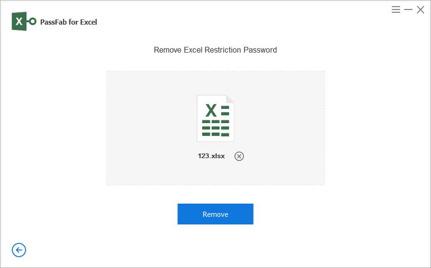 click remove
