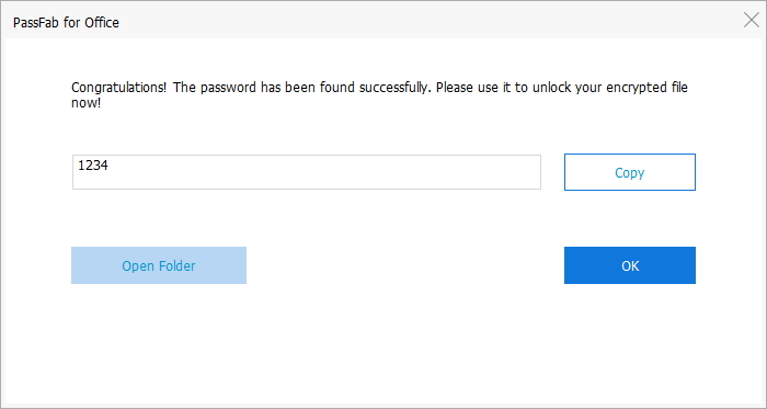 password found in passfab for office