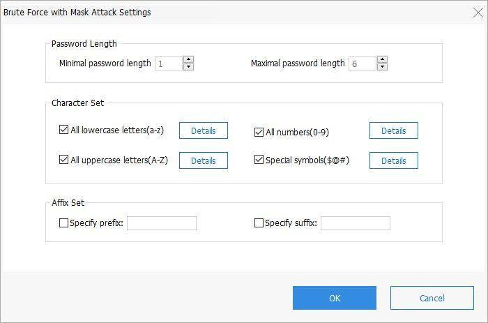 brute force with mask settings passfab for pdf guide