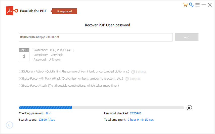 start recovery passfab for pdf guide
