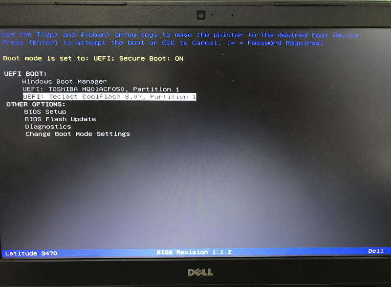 boot from usb uefi in order to use passfab toolkit