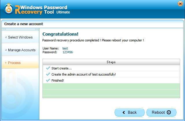 Create a New Windows Admin in passfab toolkit