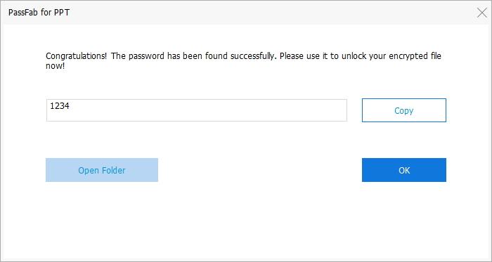password found