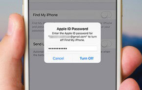 apple id password turn off find my iphone