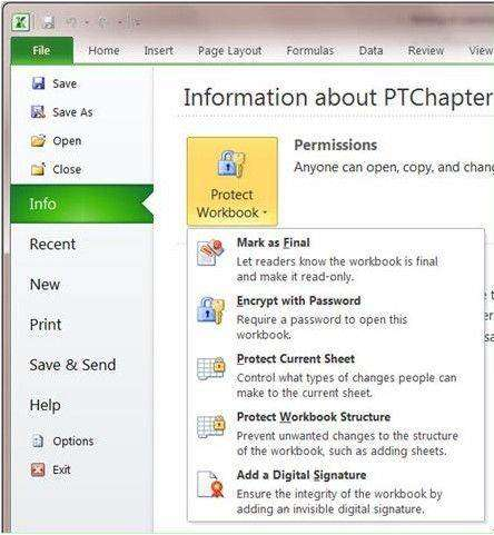 How to Put Password on Excel File