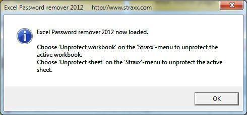 excel unprotect workbook password remover