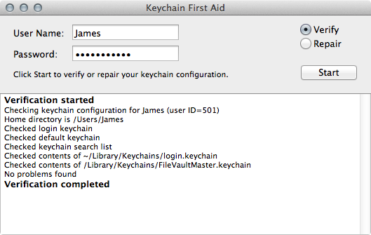 identityservicesd want to use the login keychain