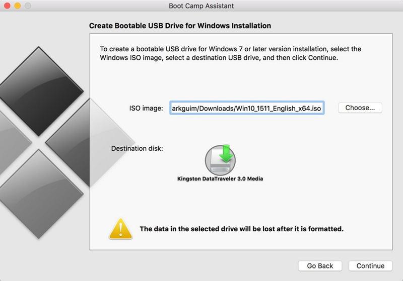 make bootable usb windows 8 on mac