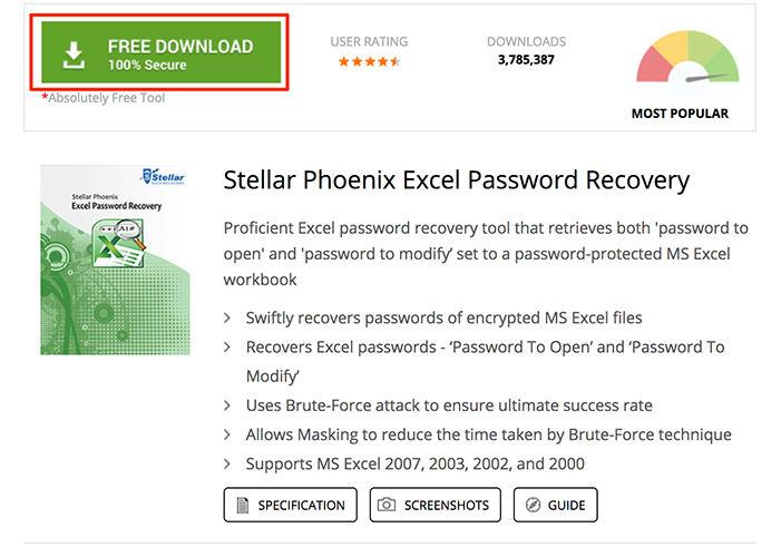detailed guide to download stellar phoenix excel password recovery