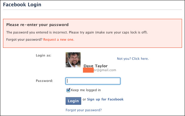 Password facebook accept will not my Jory's Question