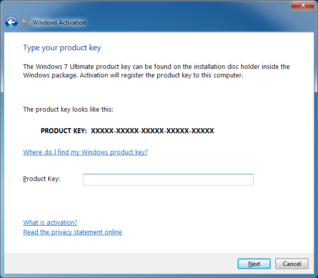 windows 7 64 bit activation key