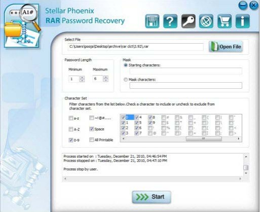 rar password recovery registration code