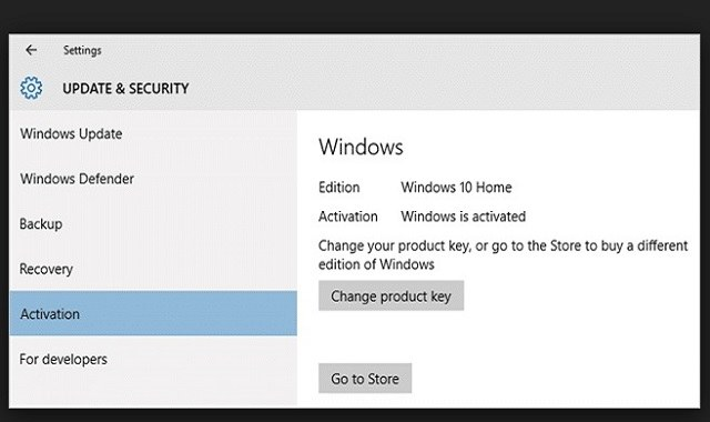 windows 10 home ürün anahtarı
