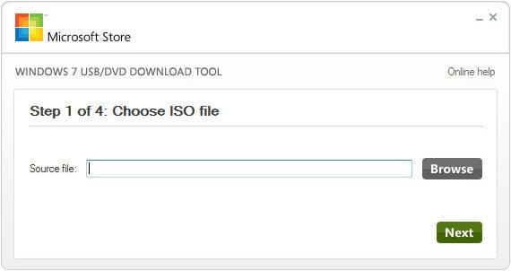 importa il file ISO di Windows 7 per creare USB avviabile