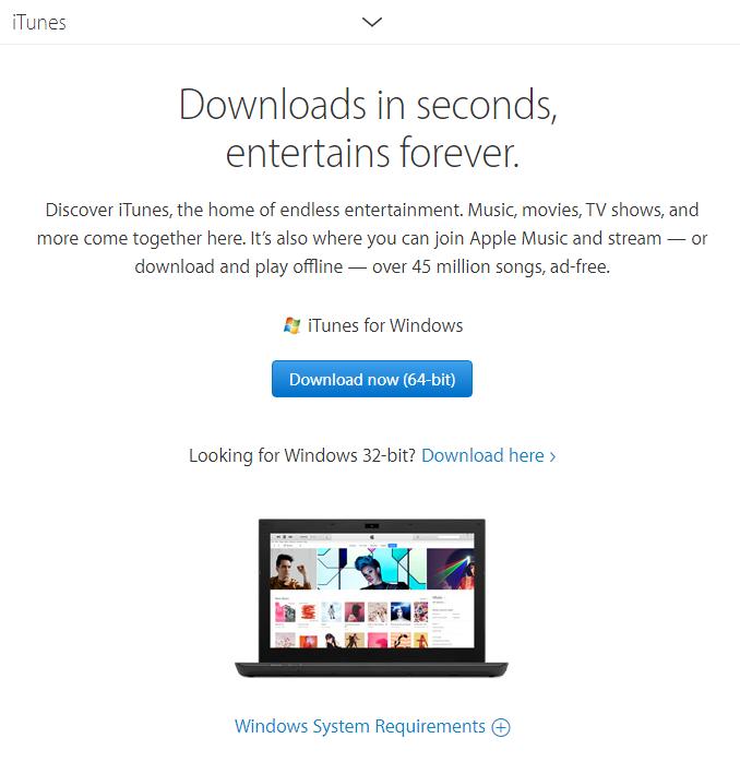 itunes windows 10 64 bit